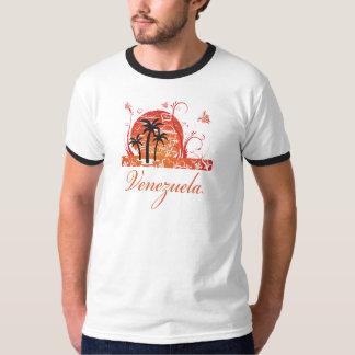 Venezuela Summer Palm Trees Ringer T-Shirt