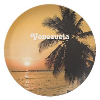 Venezuela Sunset Party Plates