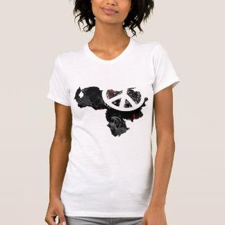 Venezuela Trendy Peace Sign with Venezuelan map T-Shirt