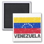 Venezuela Vintage Flag 2 Inch Square Magnet