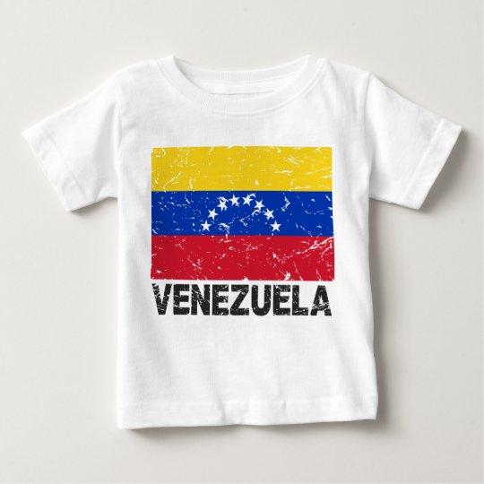 Venezuela Vintage Flag Baby T-Shirt