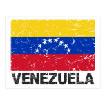 Venezuela Vintage Flag Post Card