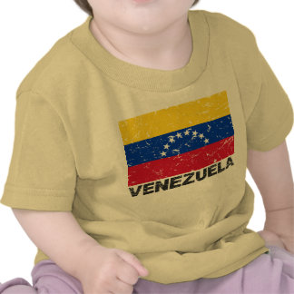 Venezuela Vintage Flag T Shirts