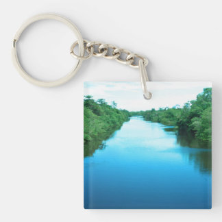 Venezuela Waterway Single-Sided Square Acrylic Keychain