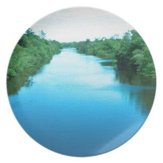 Venezuela Waterway Party Plate