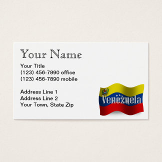 Venezuela Waving Flag Business Card