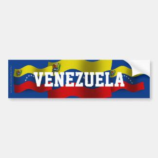 Venezuela Waving Flag Car Bumper Sticker