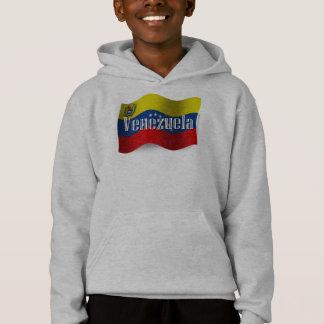 Venezuela Waving Flag Hoodie