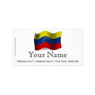 Venezuela Waving Flag Label