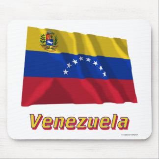 Venezuela Waving Flag with Name Mousepad