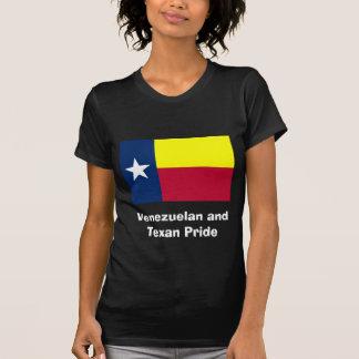 Venezuelan and Texan Pride Women's Black Shirt