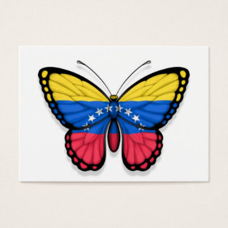 Venezuelan Butterfly Flag Business Card