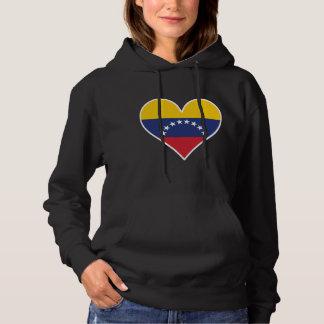 Venezuelan Flag Heart Hoodie