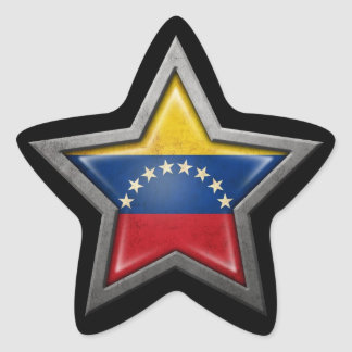Venezuelan Flag Star on Black Star Sticker