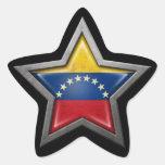 Venezuelan Flag Star on Black Star Stickers