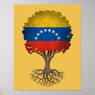 Venezuelan Flag Tree of Life Customizable Poster