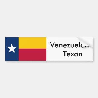Venezuelan Texan Flag Bumper Sticker