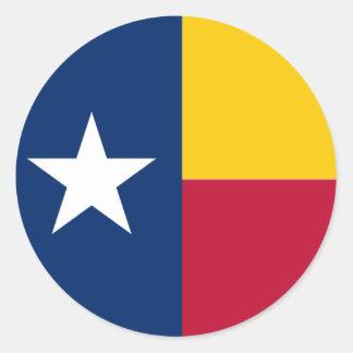 Venezuelan Texan Flag Round Glossy Sticker