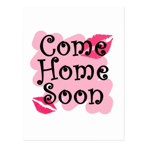 venga a casa pronto tarjetas postales