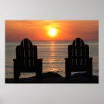 Venga mirar la puesta del sol poster