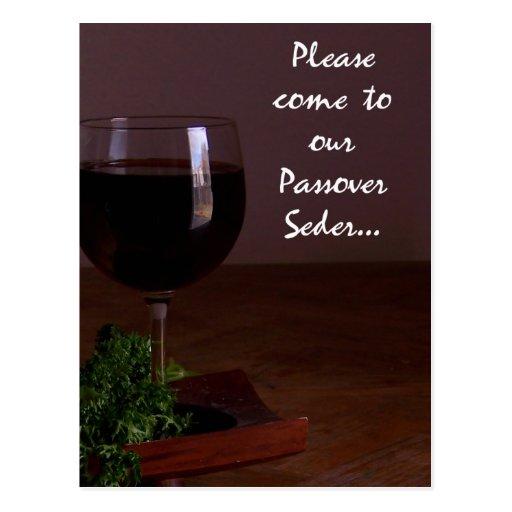 Venga por favor a nuestra postal de Seder del