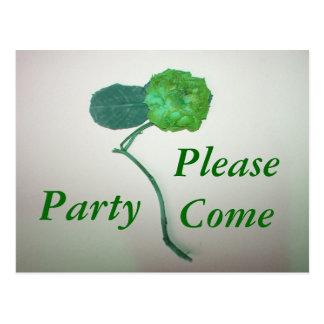 , Venga por favor, ir de fiesta Postales