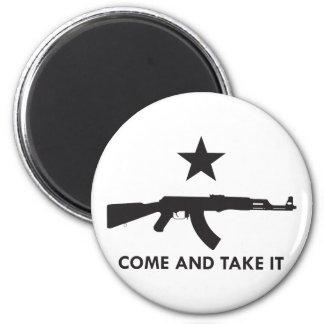 ¡Venga tomarlo! (AK47) Imán Redondo 5 Cm
