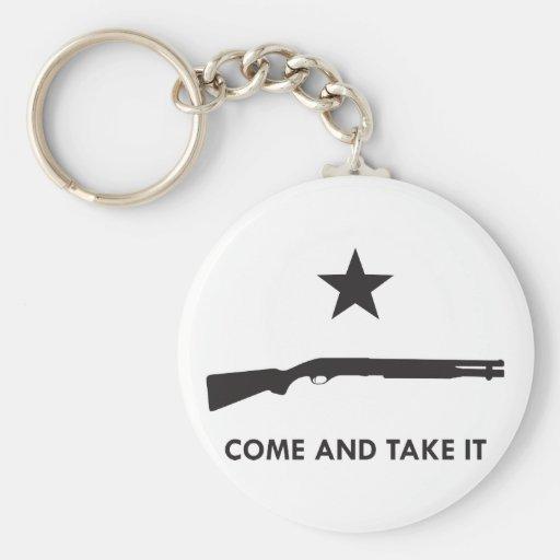 ¡Venga tomarlo! (Escopeta) Llavero