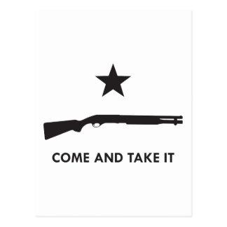 ¡Venga tomarlo Escopeta Postales