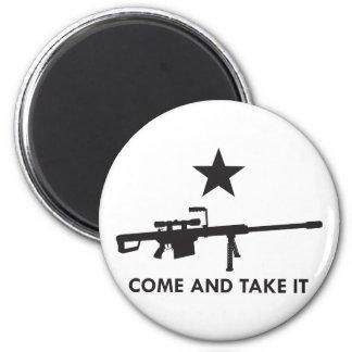 ¡Venga tomarlo! (Rifle 1) Imán Redondo 5 Cm