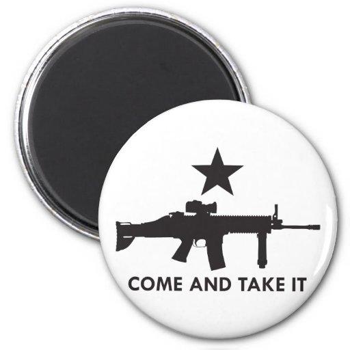 ¡Venga tomarlo! (Rifle 2) Imán Redondo 5 Cm