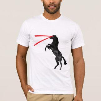 Vengador del rojo del caballo del laser playera