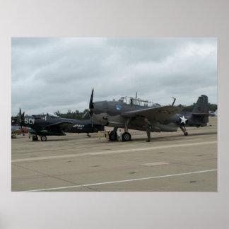 Vengador y Douglas AD-1 Skyraider. de TBM Posters