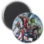 Vengadores contra el dibujo del Loki Imán Redondo 5 Cm