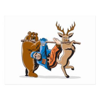 Venganza anti del animal de la caza postal