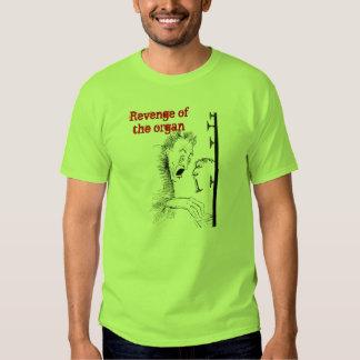 Venganza de la camiseta del órgano playera