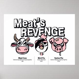 Venganza de la carne poster