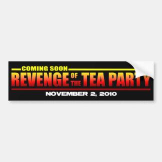 Venganza de la fiesta del té etiqueta de parachoque