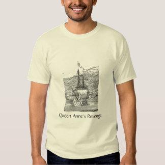 Venganza de la reina Anne del barco pirata Remera