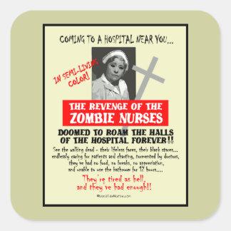 Venganza de las enfermeras del zombi pegatina