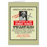 Venganza de las enfermeras del zombi tarjetas