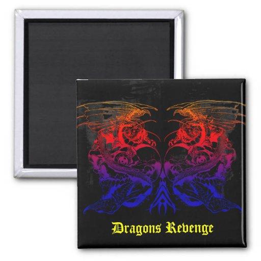 ¡Venganza de los dragones! - Imán cuadrado