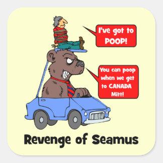 Venganza de Seamus Pegatina Cuadrada