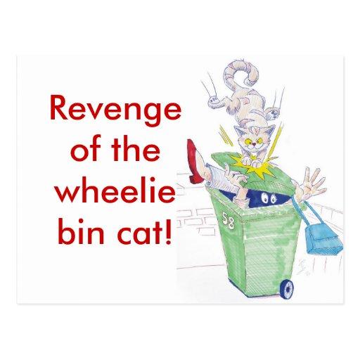 ¡Venganza del gato del compartimiento del wheelie! Postales