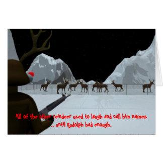 Venganza del navidad s tarjeta de felicitación