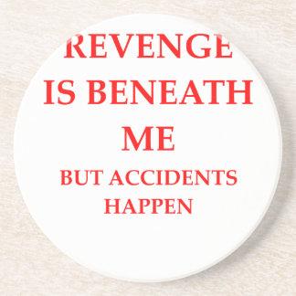 venganza posavasos diseño