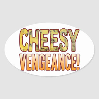 Vengeance Blue Cheesy Oval Sticker