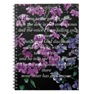 Vengo al jardín solamente floral spiral notebook