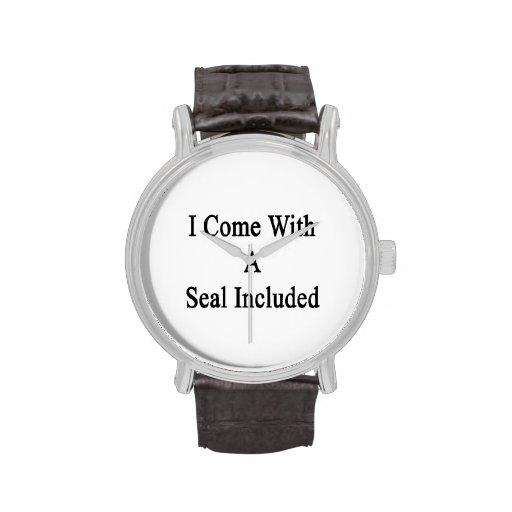 Vengo con un sello incluido reloj