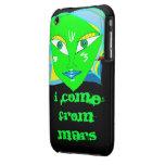 Vengo de Marte Case-Mate iPhone 3 Cárcasas